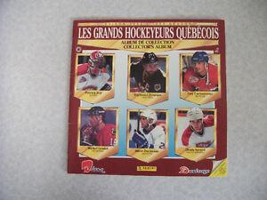 1992 Panini Album vide Les Grands Hockeyeurs Quebecois (Y961)
