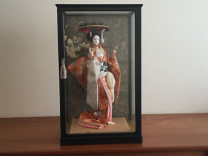 Authentic Japanese doll in case