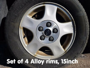 215 60R15 Snow tires on alloy rims