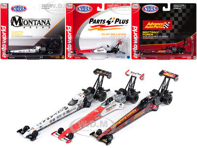 Auto World National Hot Rod Association 2019 Release 2, 3 DIECAST DRAGSTER SET