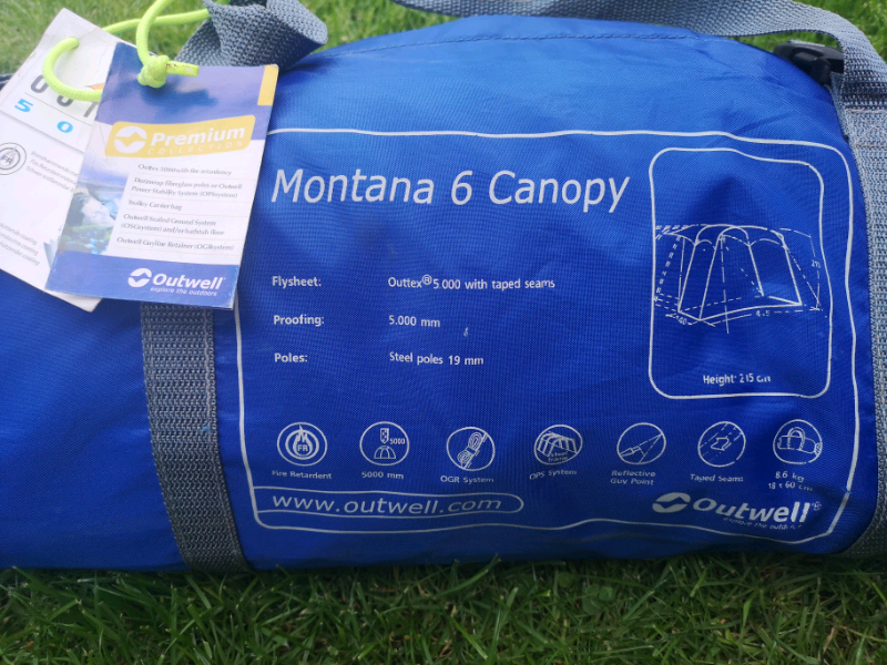 Outwell montana 6 conopy in very good condition like new Can deliver   in  Mapperley, Nottinghamshire   Gumtree