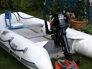 Inflatable and Motor Excellent condition Prince George British Columbia image 1
