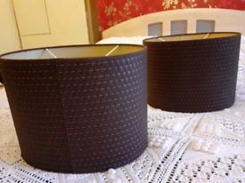 Pair of IKEA lampshades