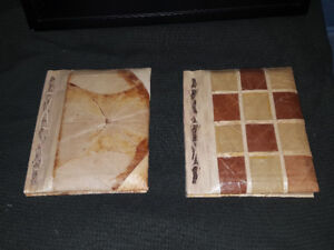 2 unusual hardcover sketching books made from bamboo paper - fro