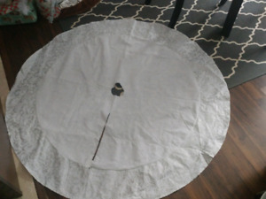 Large White and Silver Tree Skirt