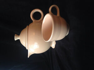 Fiestaware  vintage apricot teapot and teacup