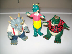 Dinosaurs TV series figures, early 1990s