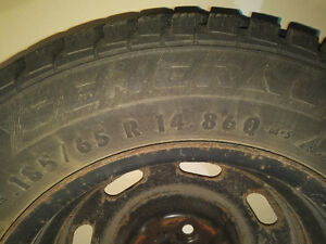 Winter tires on steel rims Kitchener / Waterloo Kitchener Area image 4