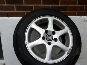 """Volvo mags 15"""" with tires in great condition"""