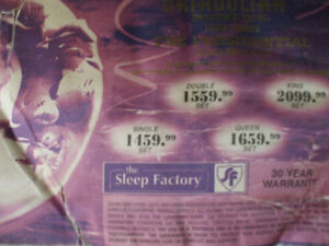 Sleep Factory twin size 2 sided pillowtop bed