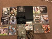 PlayStation 3 slim / PS3, 16 games, 2 pads