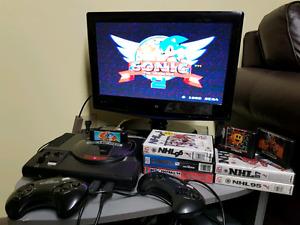 Sega Genesis & 8 games