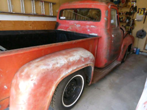 1953 Lowered F100 Lots of extras rat patina project V8