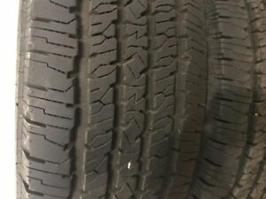 Firestone tires with less than 100 km on them.LT275/70R18