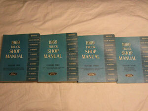 Ford Shop Manuals from the 50's through to the 90's