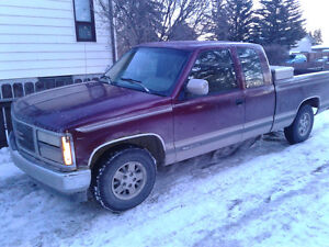 93chev excab shbox.rebuilt motor.tran.set up for towing.worktrk.