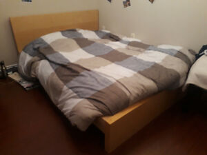 Twin bed and mattress