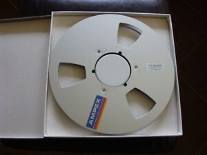 Ampex 10.5 x 1/4 inch empty metal reels - set of 5 in boxes.