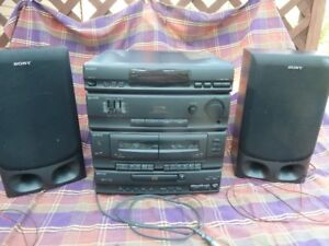 Sony Compact Disc Deck Receiver and Speaker System