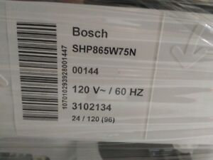 New 500 Series Bosch Dishwasher - unpacked but never installed