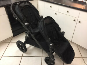 City Select by Baby Jogger Double Stroller Black