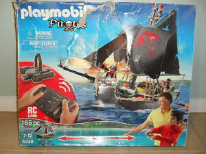 Playmobil 5238 Remote Control Pirate Ship With Motor Never Used