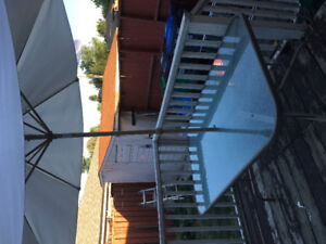 Patio Table with matching umbrella