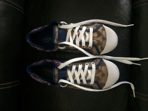 Authentic Coach Brown/Purple Logo Sneakers