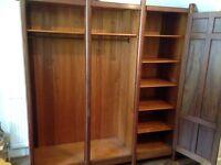 Authentic, Vintage & Spacious Wooden Wardrobe With Doors & Mirror