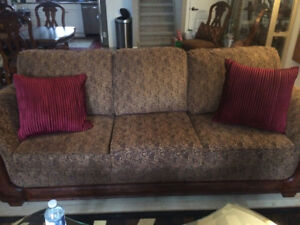 Ashley furniture couch, loveseat and chair