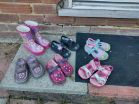 Girls shoes 7 pairs
