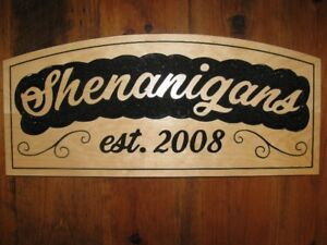 Wooden Signs for Cottage / Family Name - Great Gift Idea!
