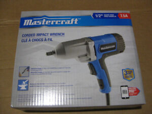Brand New Mastercraft 7.5A Impact Wrench, 1/2-in.$80.