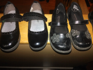 Size 9 Girls Black Shoes
