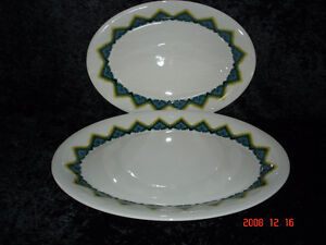 A pair of Royal Doulton platters-Navajo pattern- 13 and 16 inch
