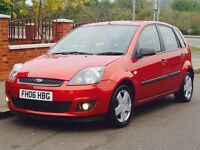 FORD FIESTA 1.2 ZETEC 2006 LOW MILEAGE JUST SERVICED CAMBELT CHANGED MOT 3 MONTHS WARRANTY INC