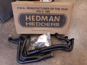 NEW HEDMAN GM Chevy Headers. Intakes and Holley Carbs