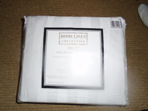 Size Double -White , Home Linen Collection 300 TC , Made in Indi