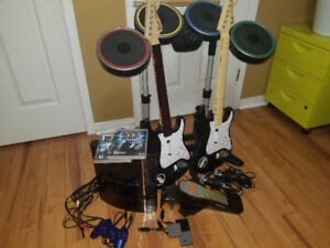PS3 + Rock-band 1 and 2 Full Set