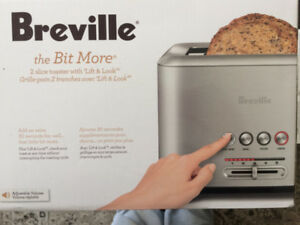 Brand new in box, Breville the bit more, 2 slice toaster