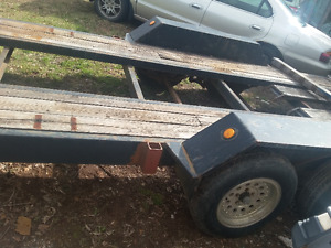 22 foot equipment trailer with ramps