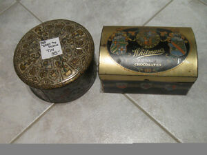TWO CHARMING OLD VINTAGE COLLECTOR'S TINS from the GOOD OLD USA