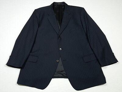 Joseph Abboud Super 100s Navy Blue Pinstriped Suit 48 R w/ 40 x 30.5 Pants