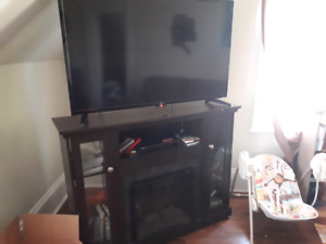 48 inch tv with fireplace
