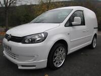 61/11 VOLKSWAGEN CADDY C20 1.6 TDI 75PS IN WHITE WITH TAILGATE (NO VAT)