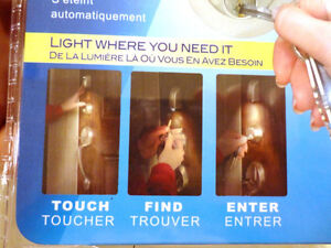 New Silver Color Lock Lights -Touch Activated Door Lock Lighting Kitchener / Waterloo Kitchener Area image 6