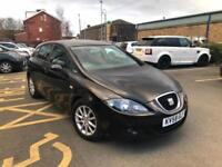 2009 SEAT LEON 1.6 STYLANCE MANUAL BLACK LOW MILEAGE NOT GOLF A3