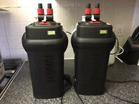 Fluval 206 external fish tank filter with hoses and media