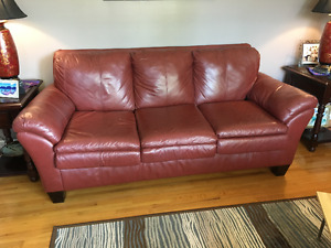 Leather sofa and love seat - fabulous condition