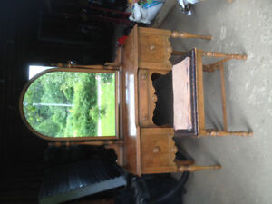 Antique Vanity and bench for sale